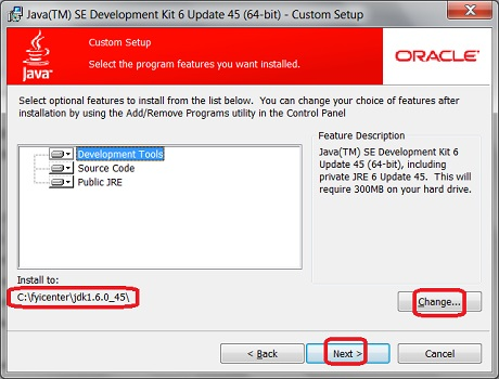 JDK 6 Installation Wizard Screen