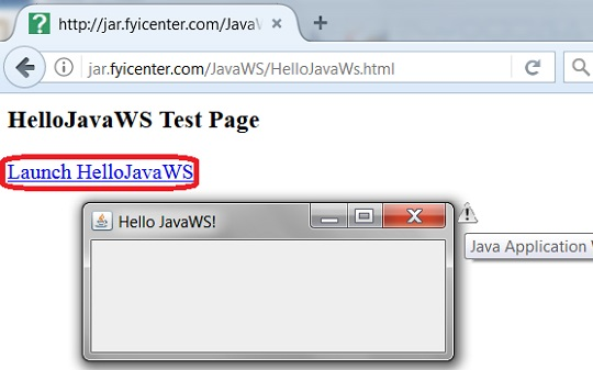 Run Application with JavWS from Web Page